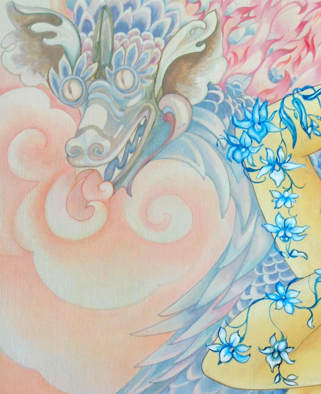 Mara Tranlong - Belle au dragon détail 2