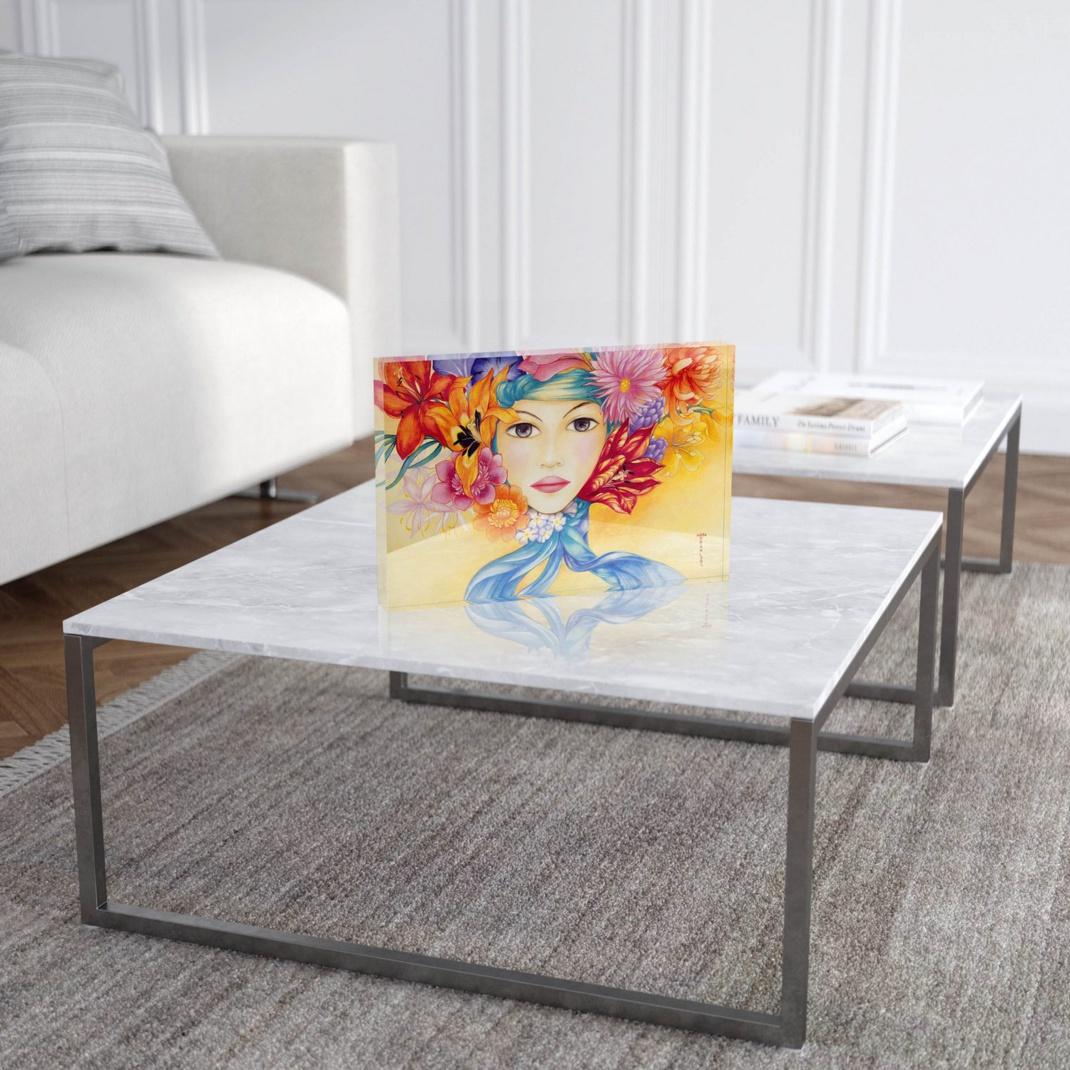 "Mara Tranlong ""Amapola"" Reproduction sur Plexiglass 20x30 cm"