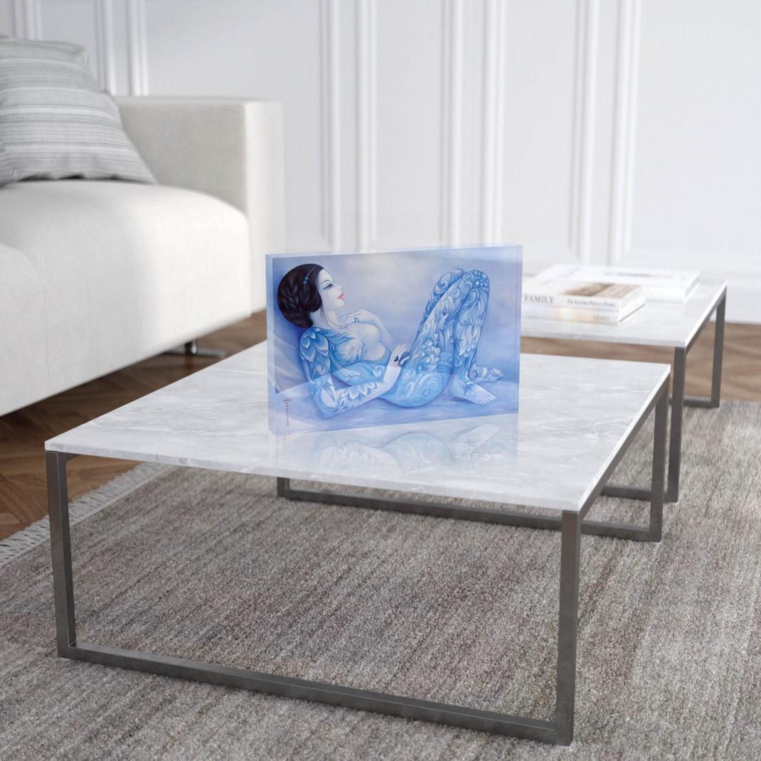 """Mara Tranlong """"Mille fleurs"""" Reproduction sur Plexiglass 20x30 cm"""