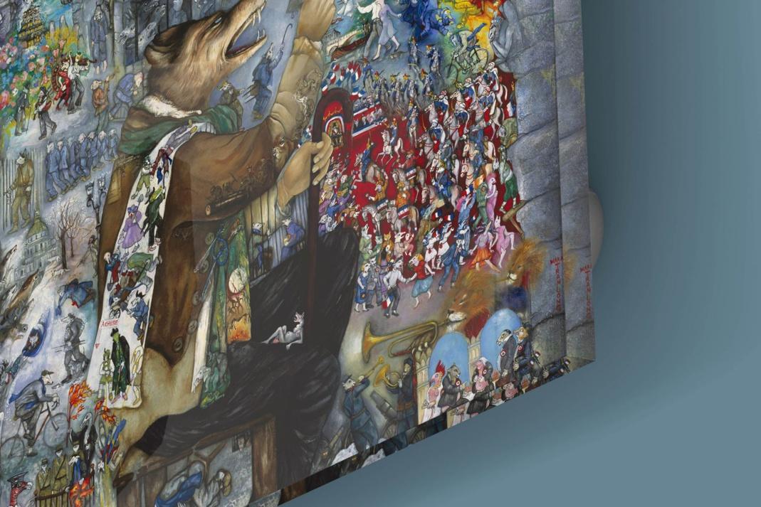 """Mara Tranlong Détail """"Tumulte à Copenhague"""" d'après Féérie pour une autre fois"""" Reproduction sur Plexiglass 110 cm X 110 cm"""
