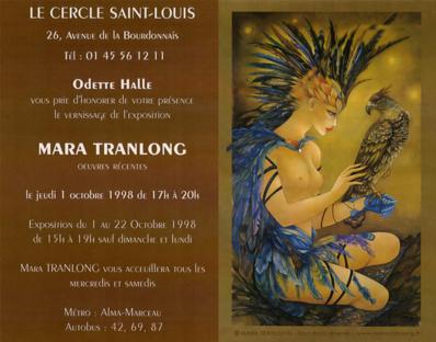"""Mara Tranlong """"L'oiselière"""" Acrylique - Tempera sur carton"""