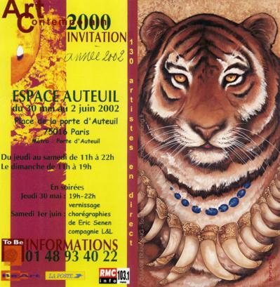 Mara Tranlong - Peinture acrylique sur bois - Trophées - 60 x 30 cm