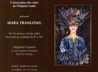 Mara Tranlong - Vestale - Peinture acrylique sur carton - 100 x 60 cm - 1997