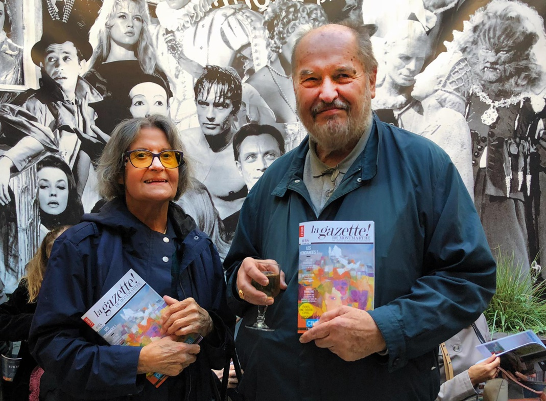 Mara Tranlong et Jacques Bachellerie de la Gazette de Montmartre