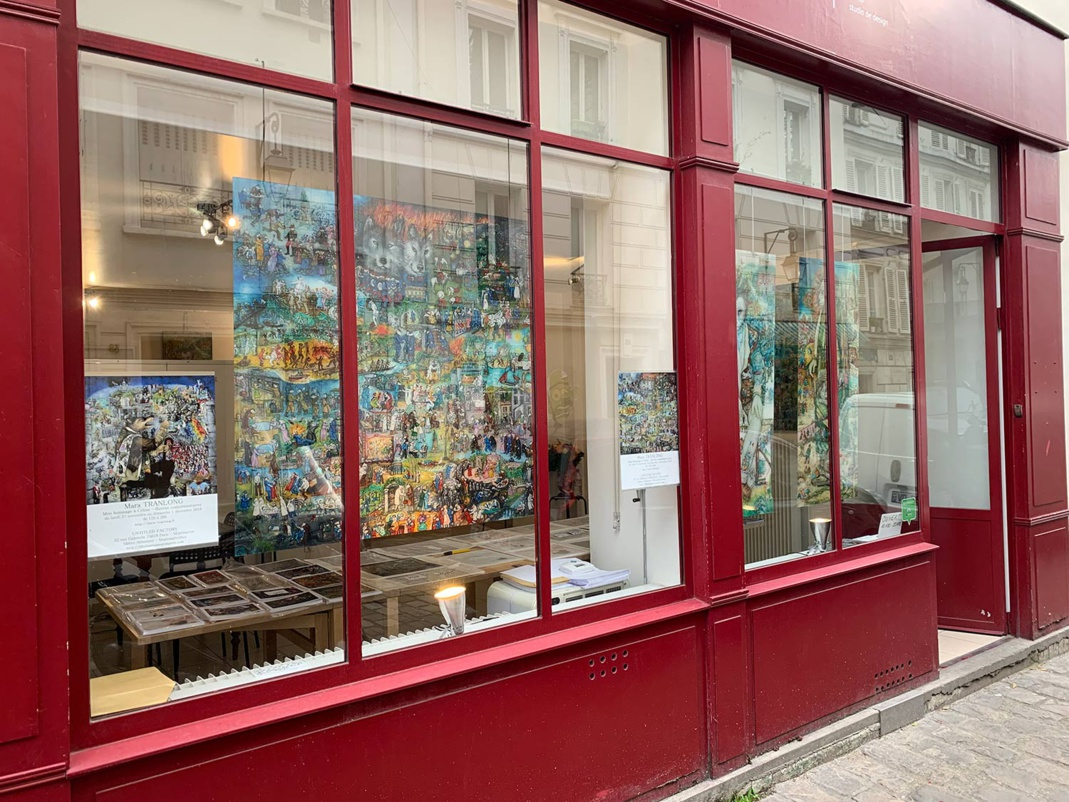 """Les photos de l'exposition et du vernissage """"Mon Hommage à Céline"""" en novembre 2019"""