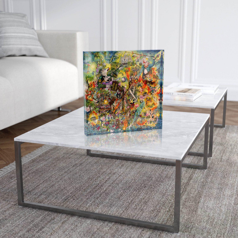 "Mara Tranlong ""Tohu Bohu"" Reproduction sur Plexiglass 30x30 cm"