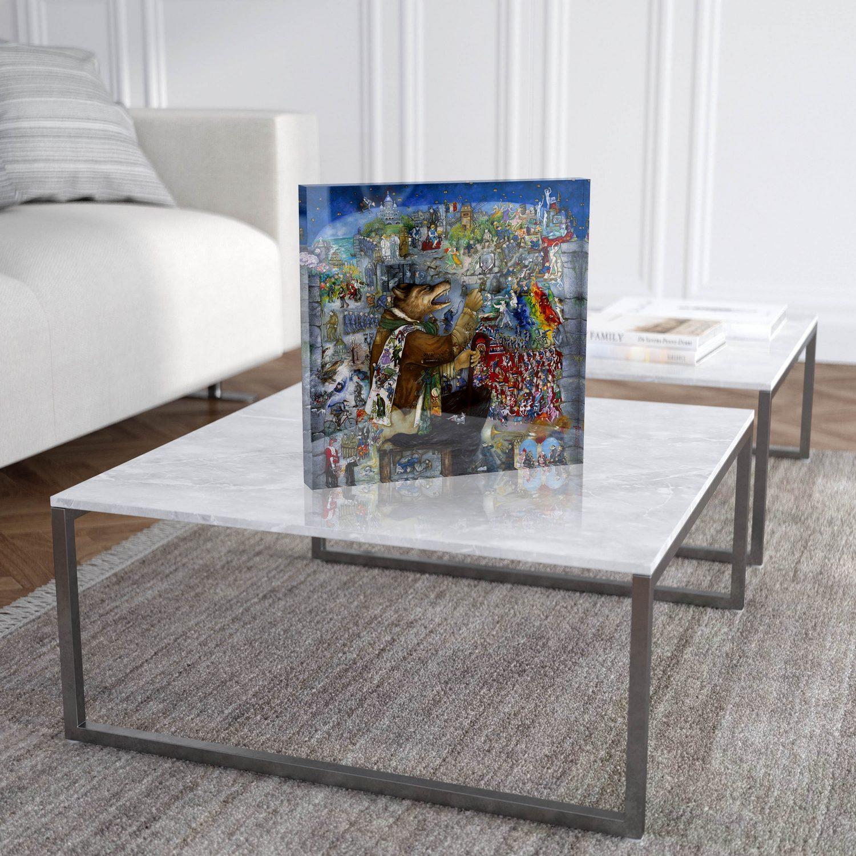 """Mara Tranlong """"Tumulte à Copenhague"""" Reproduction sur Plexiglass 30x30 cm"""