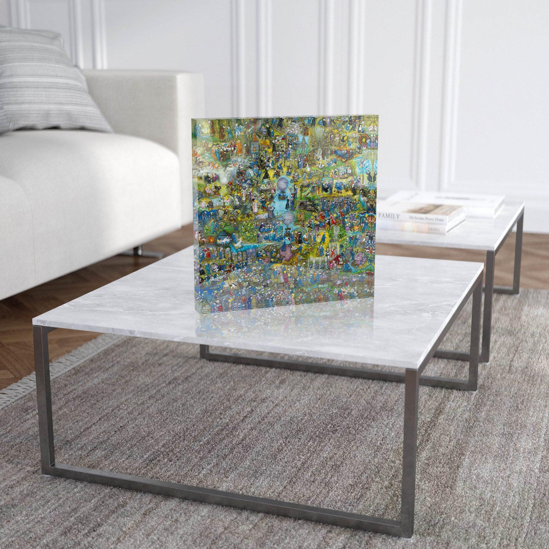 """Mara Tranlong """"Les Emmerdes"""" Reproduction sur Plexiglass 30x30 cm"""