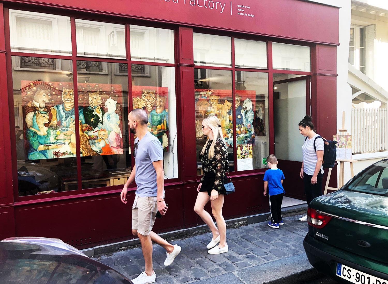 """Mara Tranlong """"Les Vendanges de Montmartre - Agapes"""" exposition à Montmartre galerie Untitled Factory"""