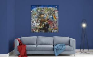 """Mara Tranlong """"Tumulte à Copenhague"""" d'après """"Normance"""" Reproduction sur Plexiglass 110 cm 110 cm"""